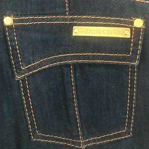 Roberto Cavalli Dark Blue Flare Jeans Sz 42